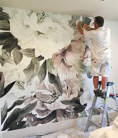 Floral Murals Wall Nursery Mural Kid Blush
