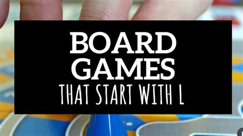 We'll give you some basic information about each game, as well as links out to boardgamegeek (who are awesome!) and amazon in case you want to pick the game up (note: Board Games That Start with L - Do You Know Them All?