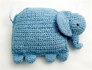 Free Crochet Elephant Pillow Pattern