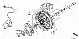 Honda Scooter 2014 Oem Parts Diagram For Front Wheel