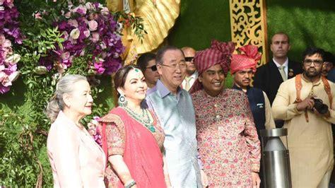 In Pics Top Ceos Politicians Attend Akash Shloka Wedding