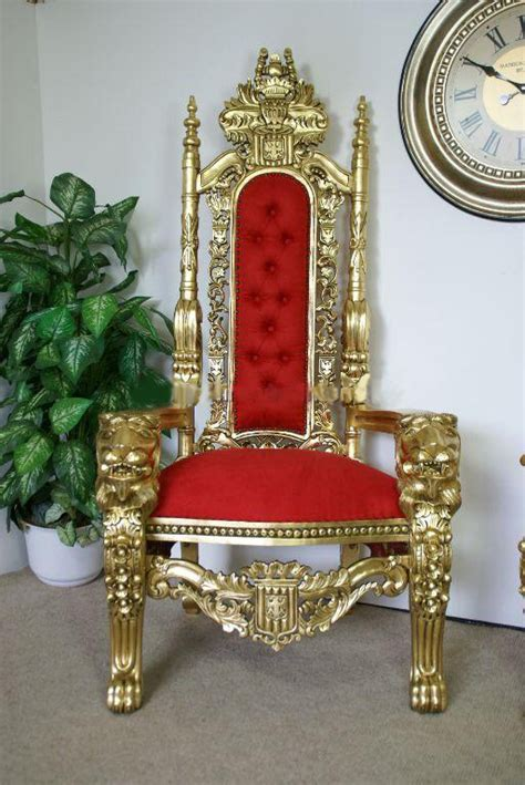 thrones and ornate furniture