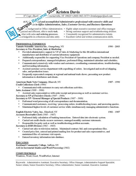 sample of resume with job description resume sales assistant responsibilities