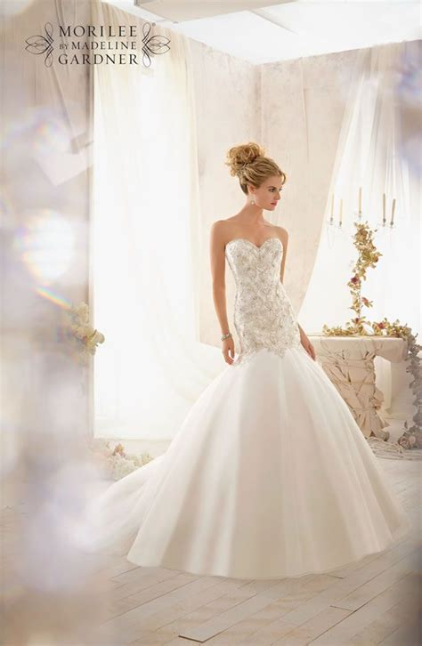 mori lee bridal collection  full  sparkly