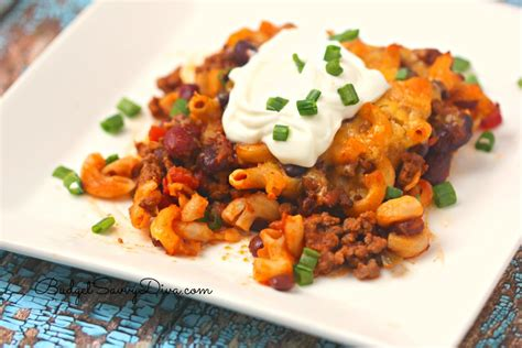 Baked meal recipes in oven. Chili Pasta Casserole Recipe | Budget Savvy Diva