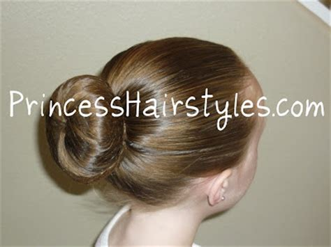 perfect ballet bun hairstyles  girls princess