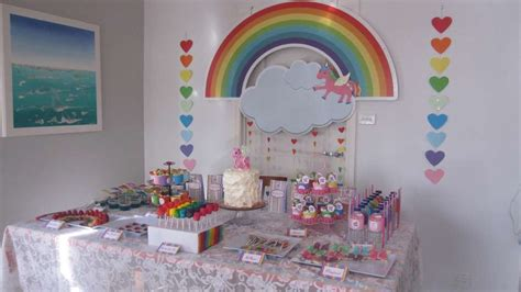 rainbow unicorn birthday ideas photo 1 of 24 catch my