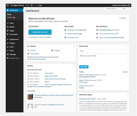 A Beginner's Guide To The Wordpress Dashboard