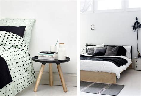 chambre blanc et noir une chambre en noir et blanc joli place