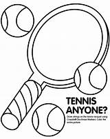 Tennis Coloring Pages Racket Getcoloringpages Books sketch template