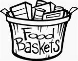 Food Basket Clipart Clip Baskets Offering Church Thanksgiving Non Cliparts Elca Donations Special Perishables Library Drive Collection Shir Hadash Boxes sketch template