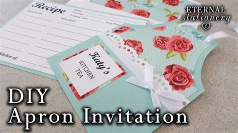 easy diy apron invitation kitchen tea bridal shower