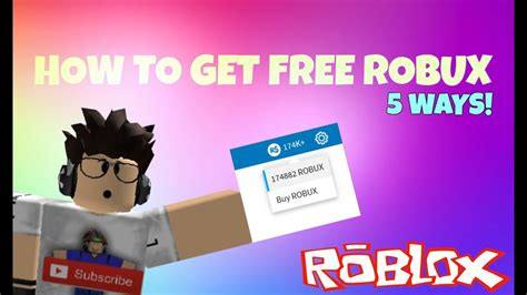 how to get free robux november 2016 5 ways youtube