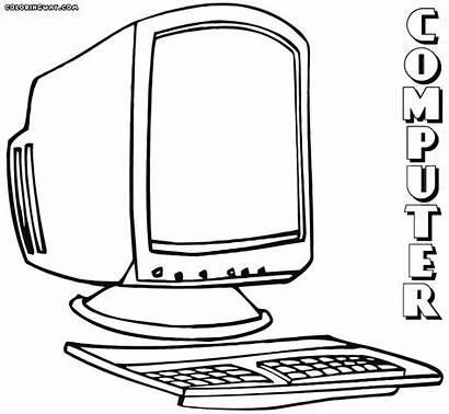 Computer Coloring Pages Monitor Colorings Clip