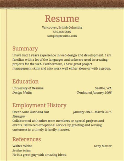 resume builder resume templates  edit