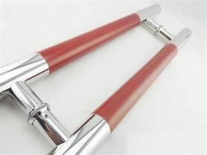 H type double side glass door pull handle - Door Handles
