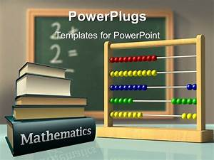 powerpoint template mathematics books and abacus in front With powerpoint templates mathematics free download