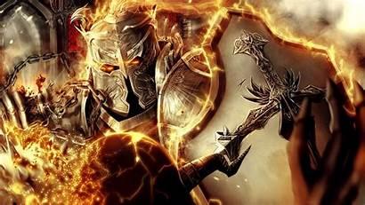 Warrior Fire Armor Diablo Crusader Shield Reaper