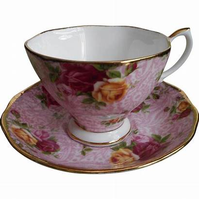 Cup Royal Albert Saucer Lace Roses Country