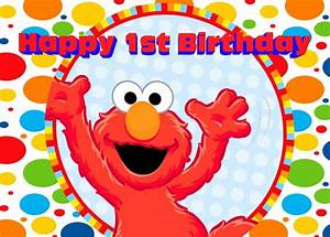 7x5FT Sesame Red Elmo Mirro Happy Birthday Pattern Custom ...
