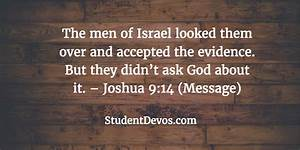 Daily Bible Verse and Devotion - Joshua 9:14 | Student ...