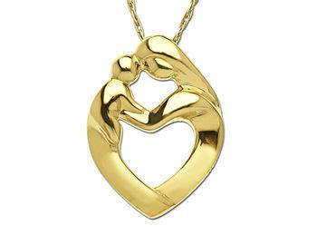 Mother child necklaces traumspuren mother and child pendant gold mozeypictures Images