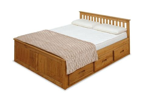 11487 storage bed frame 4ft small captains storage solid pine wooden bed