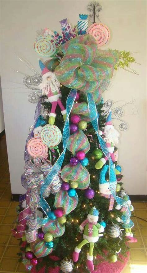 candy land christmas tree holiday decorations pinterest