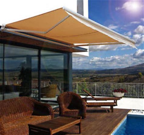 outdoor 10 215 8 manual retractable awning patio deck sun