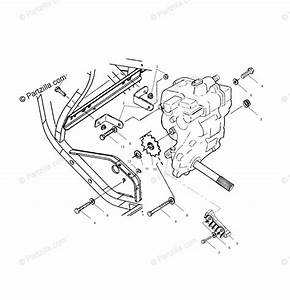 Polaris Atv 1999 Oem Parts Diagram For Gearcase Mounting