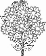 Coloring Bouquet Flower Wife Templates Template Isaak Well Colorluna sketch template