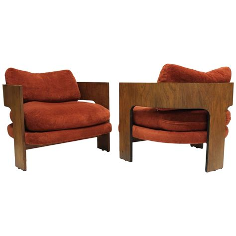 pair of milo baughman for thayer coggin club chairs at 1stdibs