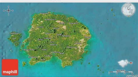 satellite  map  kab belitung