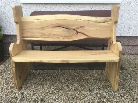 bespoke natural wood garden bench  milton glasgow