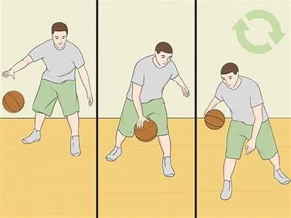 Basketball Dribble Legs Between Step Leg Steps
