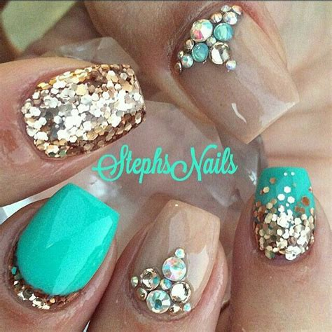 teal color nails best 25 teal nail designs ideas on nails