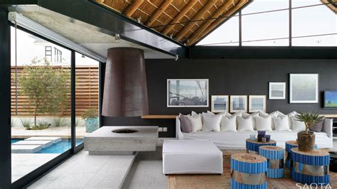 ocean view contemporary luxury home thatched roof