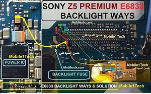 Sony Xperia Z5 E6833 Display Light Ways Solution Backlight