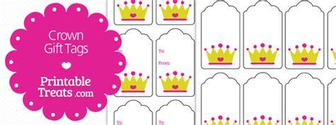 printable crown gift tags printable treatscom