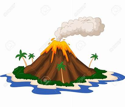 Volcano Clipart Animated Clip Drawing Background Wallpapers