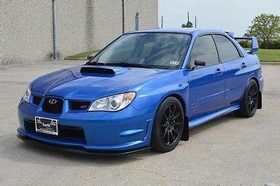 custom blue subaru 2007 subaru impreza wrx sti cars for sale