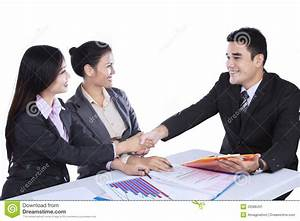 Business People Shaking Hands At Meeting Stock Image ...