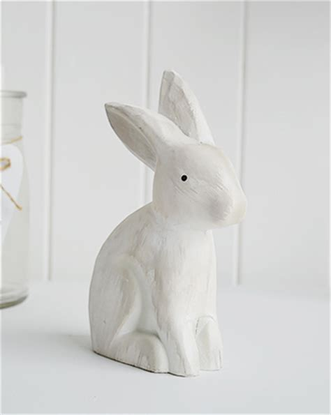 wooden white rabbit   white lighthouse furniture