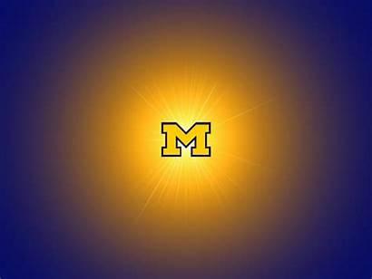 Michigan Desktop University Wolverines Screensaver Football Glowing