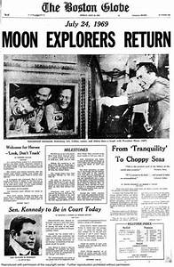 Dayton Daily News Headlines Moon Landing - Pics about space