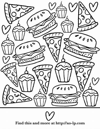 Coloring Pages Pizza Summer Printable Break Protein