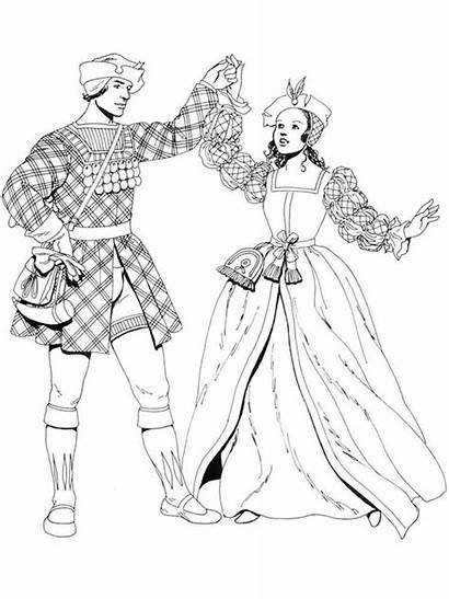 Coloring Pages Historical Renaissance Clothing Printable Adult