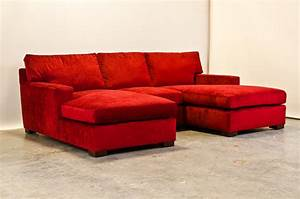 Red chenille matthews sectional with two chaise for Red chenille sectional sofa