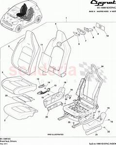 Aston Martin Cygnet Front Seat  Drivers Parts