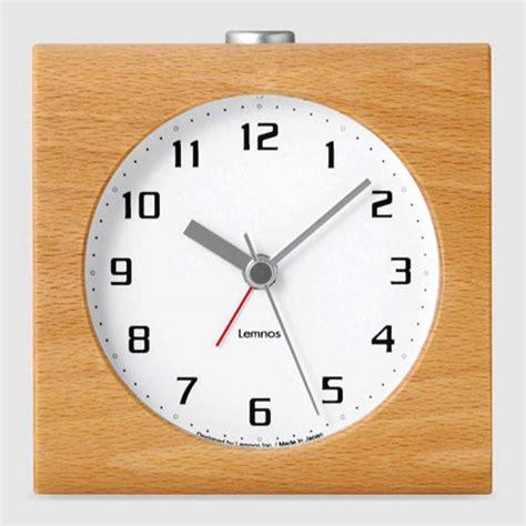 alarm clock design lemnos design alarm clock block carved from a solid block of wood wilhelmina designs